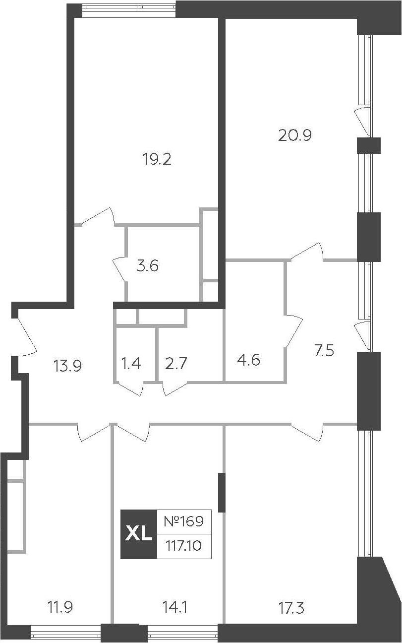 4-к.кв, 117.1 м²