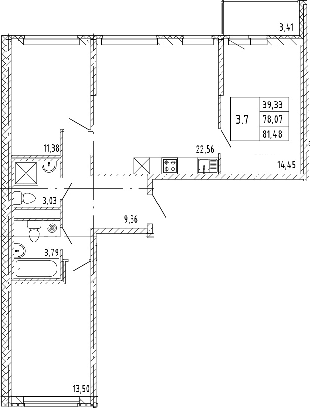 4Е-к.кв, 79.78 м²