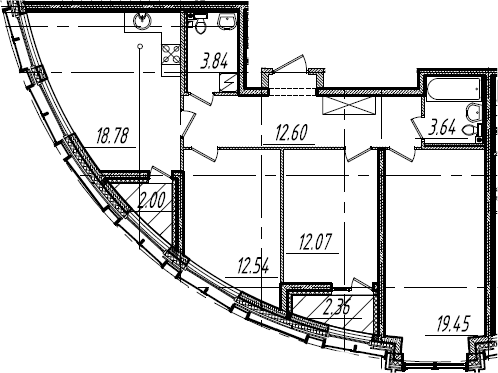 4Е-к.кв, 85.1 м², от 13 этажа