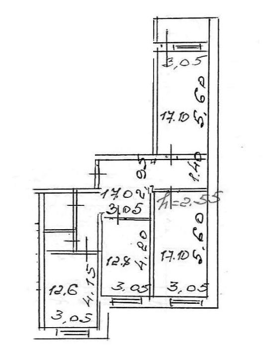 3-к.кв, 81.12 м²