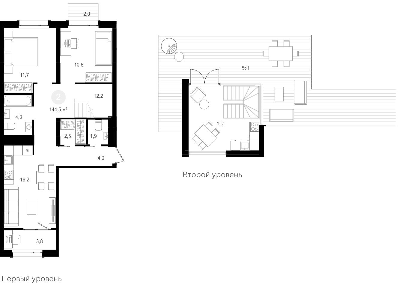 3Е-к.кв, 144.4 м²