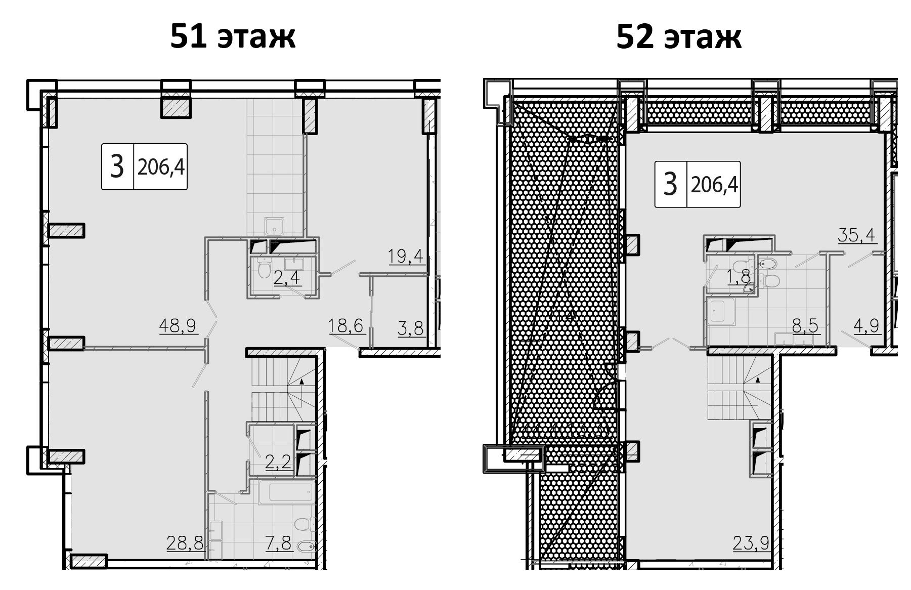 5-к.кв (евро), 206.4 м²