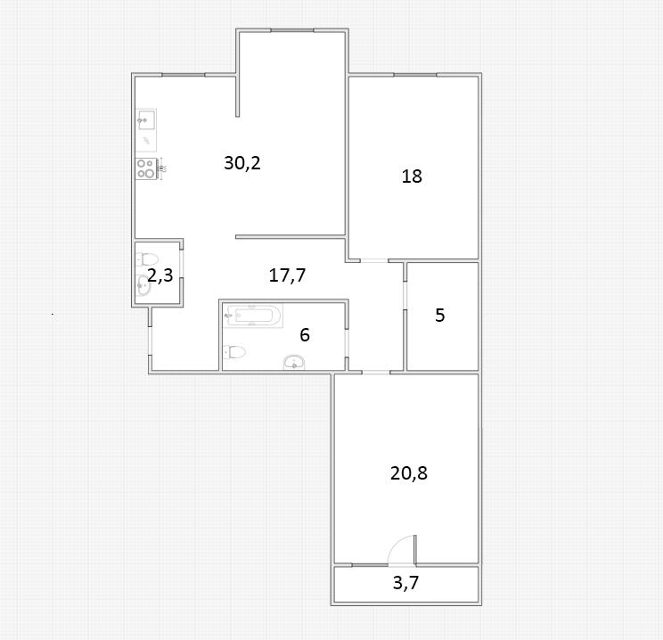 3Е-к.кв, 101.85 м²
