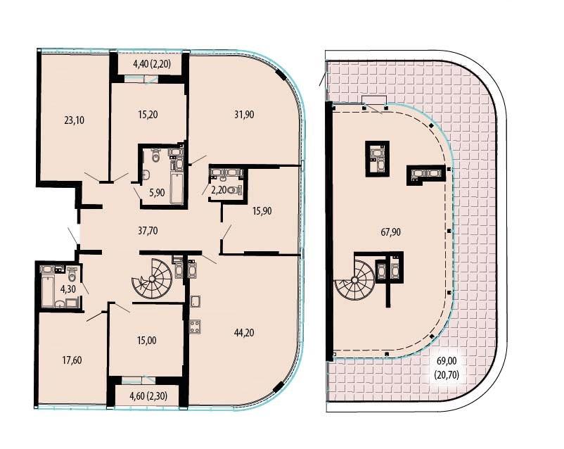 7-к.кв, 358.9 м²
