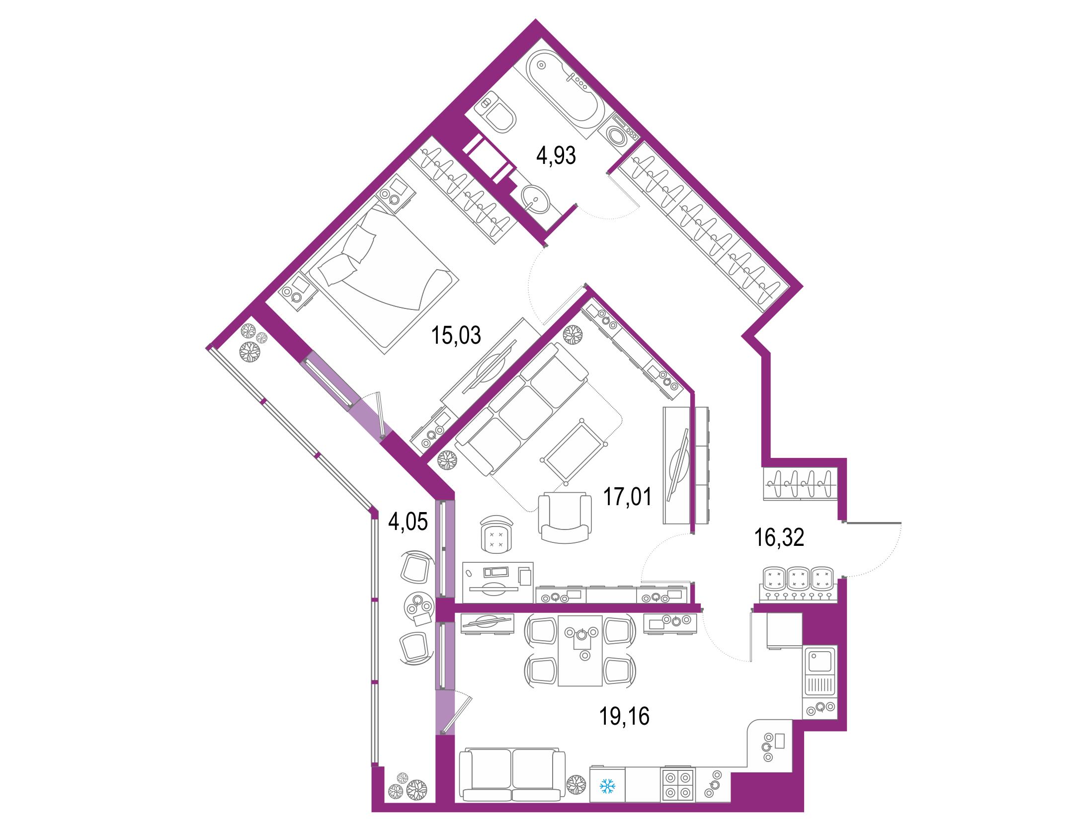 3-к.кв (евро), 80.55 м²