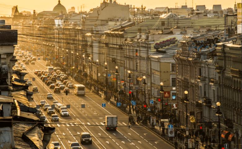Невский проспект в пяти минутах транспортом