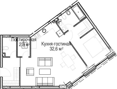 Своб. план., 62.3 м²