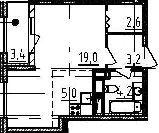 Студия, 35.7 м², от 8 этажа