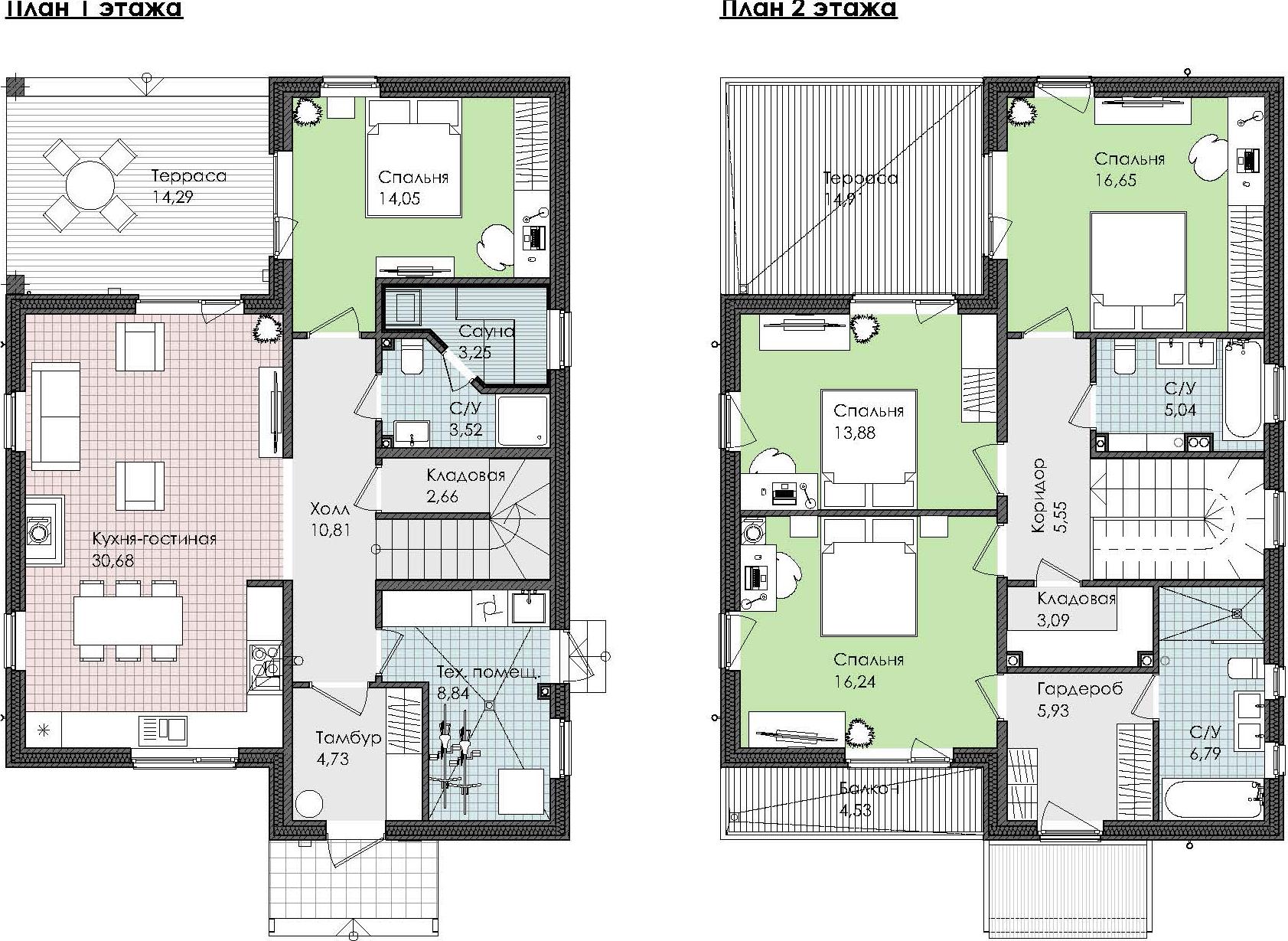 Коттедж, 185.44 м², 1 этаж