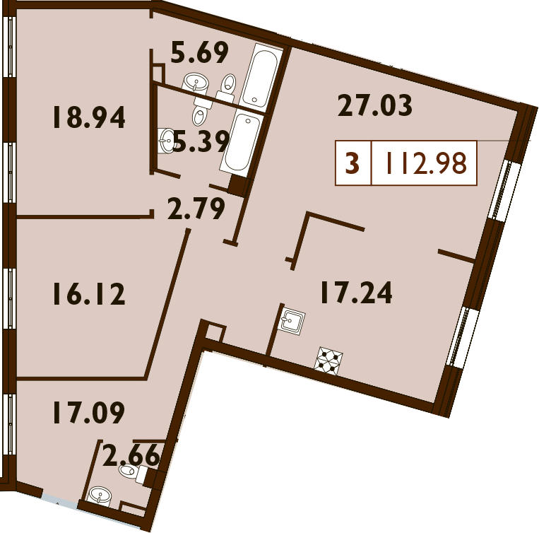 4Е-к.кв, 112.95 м²