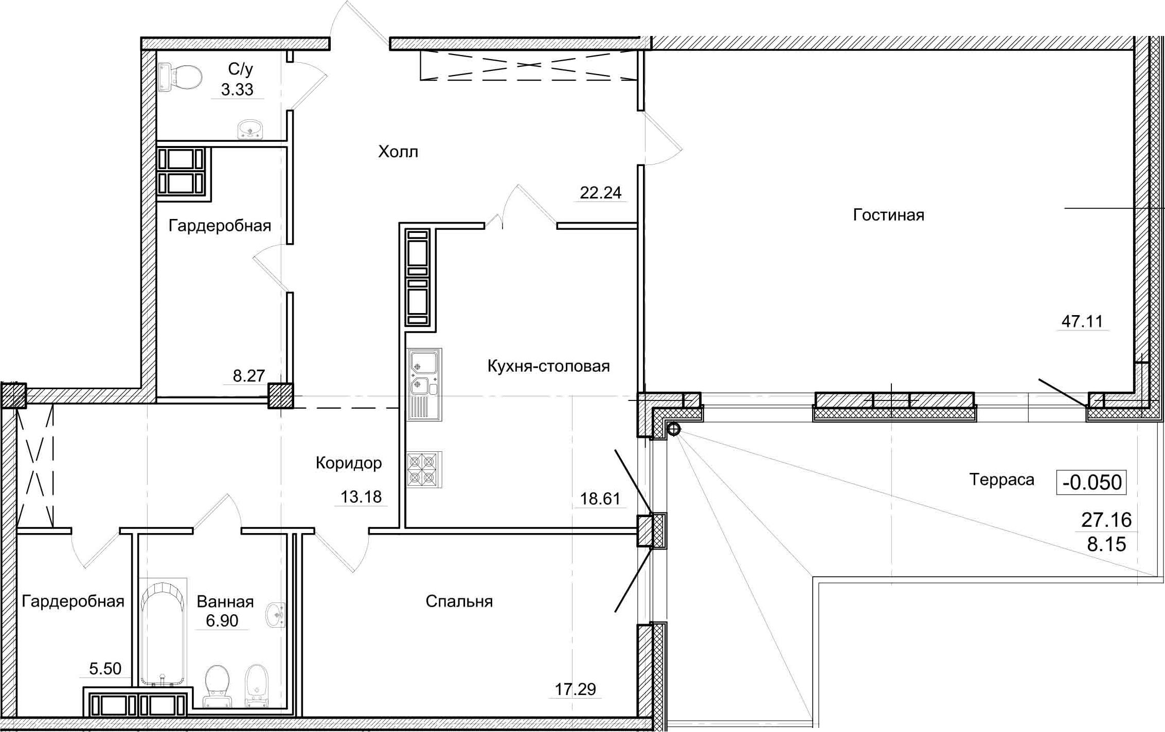 3Е-комнатная, 149.5 м²– 2