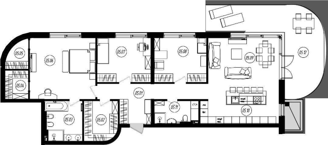 4Е-комнатная, 131.83 м²– 2