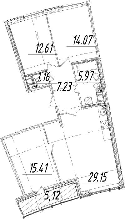 4Е-к.кв, 88.16 м², 14 этаж