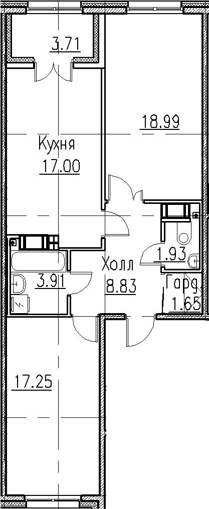 3-к.кв (евро), 73.27 м²