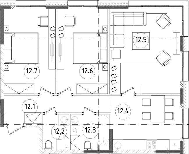 3-к.кв, 77.12 м², 13 этаж