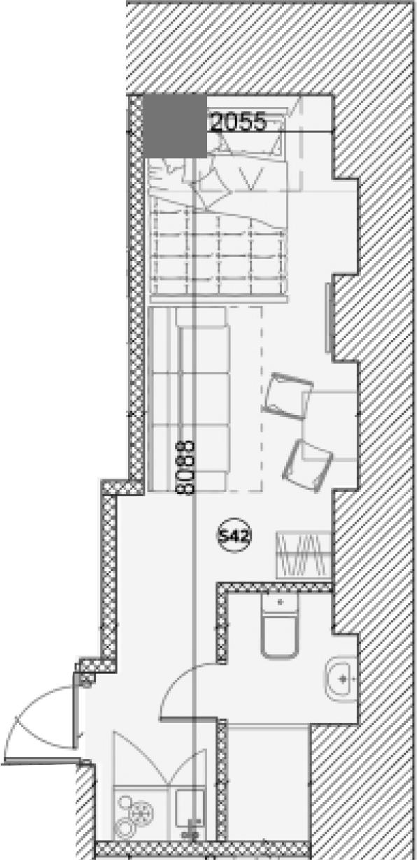 Свободная планировка, 18.3 м²– 2