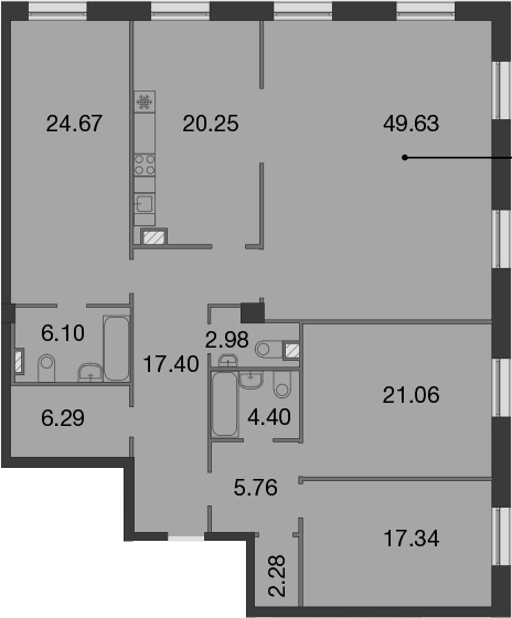 5Е-к.кв, 178.16 м²
