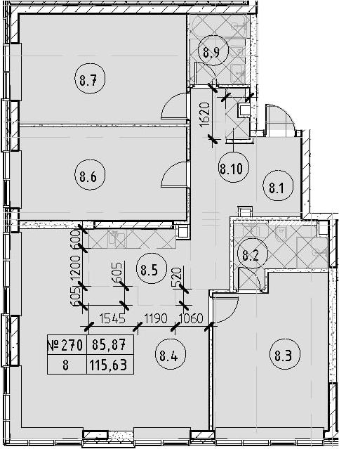 4Е-к.кв, 115.63 м²