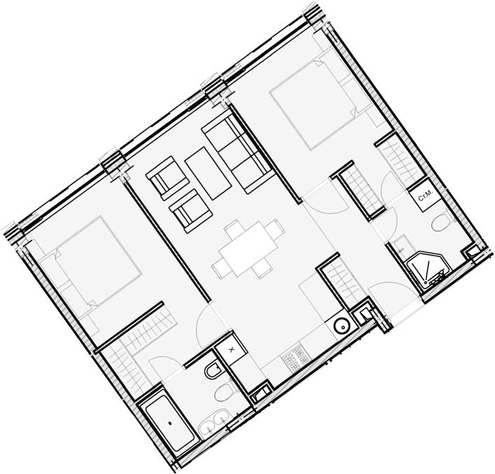 Свободная планировка, 60.04 м²– 2