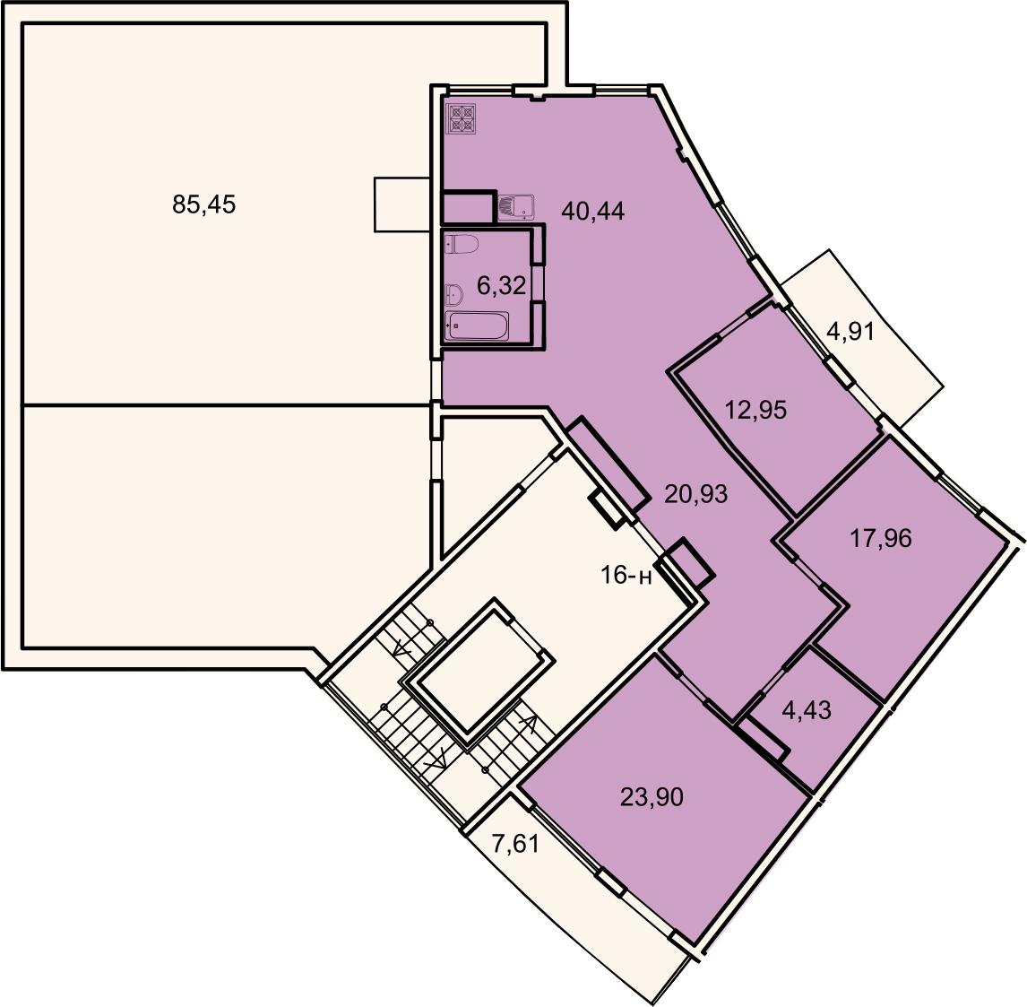 4Е-комнатная, 130.7 м²– 2