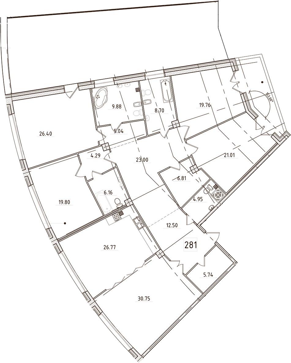 5Е-комнатная, 258.24 м²– 2