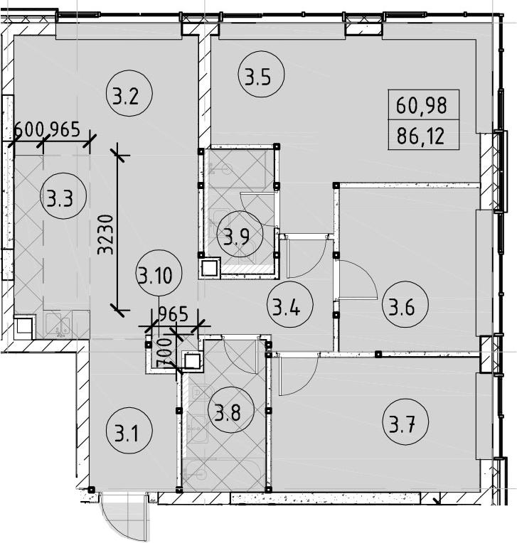 4Е-комнатная, 86.12 м²– 2