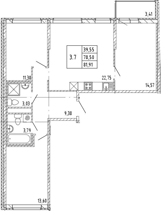 4Е-к.кв, 80.21 м²