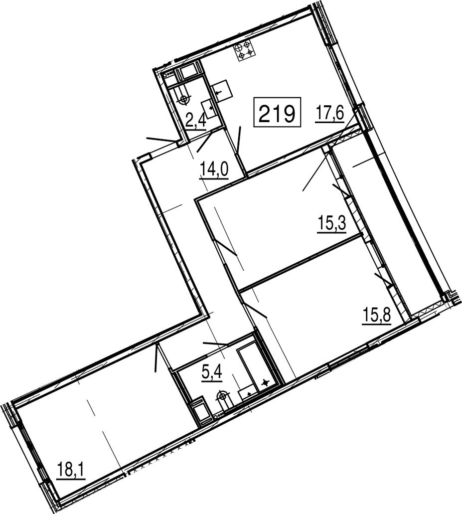 4Е-к.кв, 92.4 м²