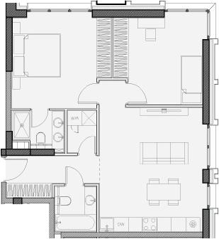 Свободная планировка, 66.3 м²– 2
