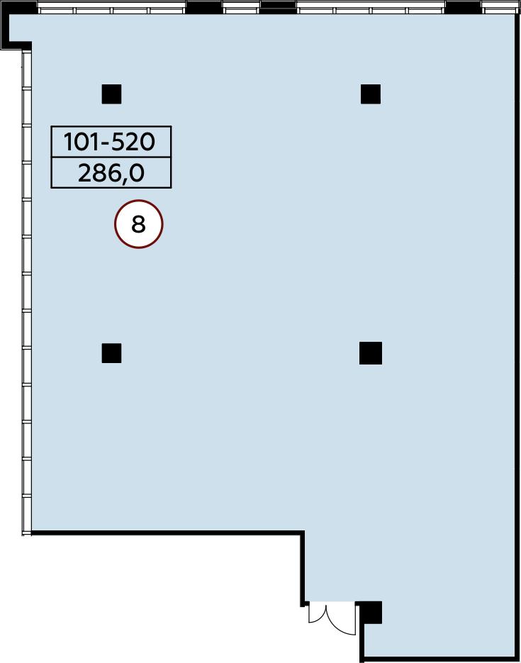 Коммерческое помещение, 286 м²– 2