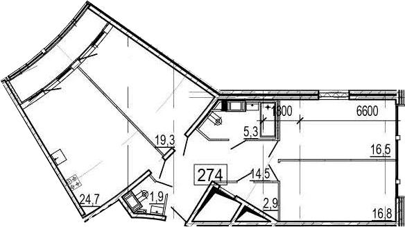 4Е-к.кв, 105.4 м², 11 этаж