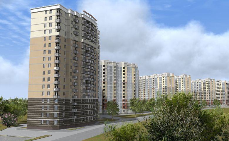 2-комнатная квартира, 56.5 м², 8 этаж – 6