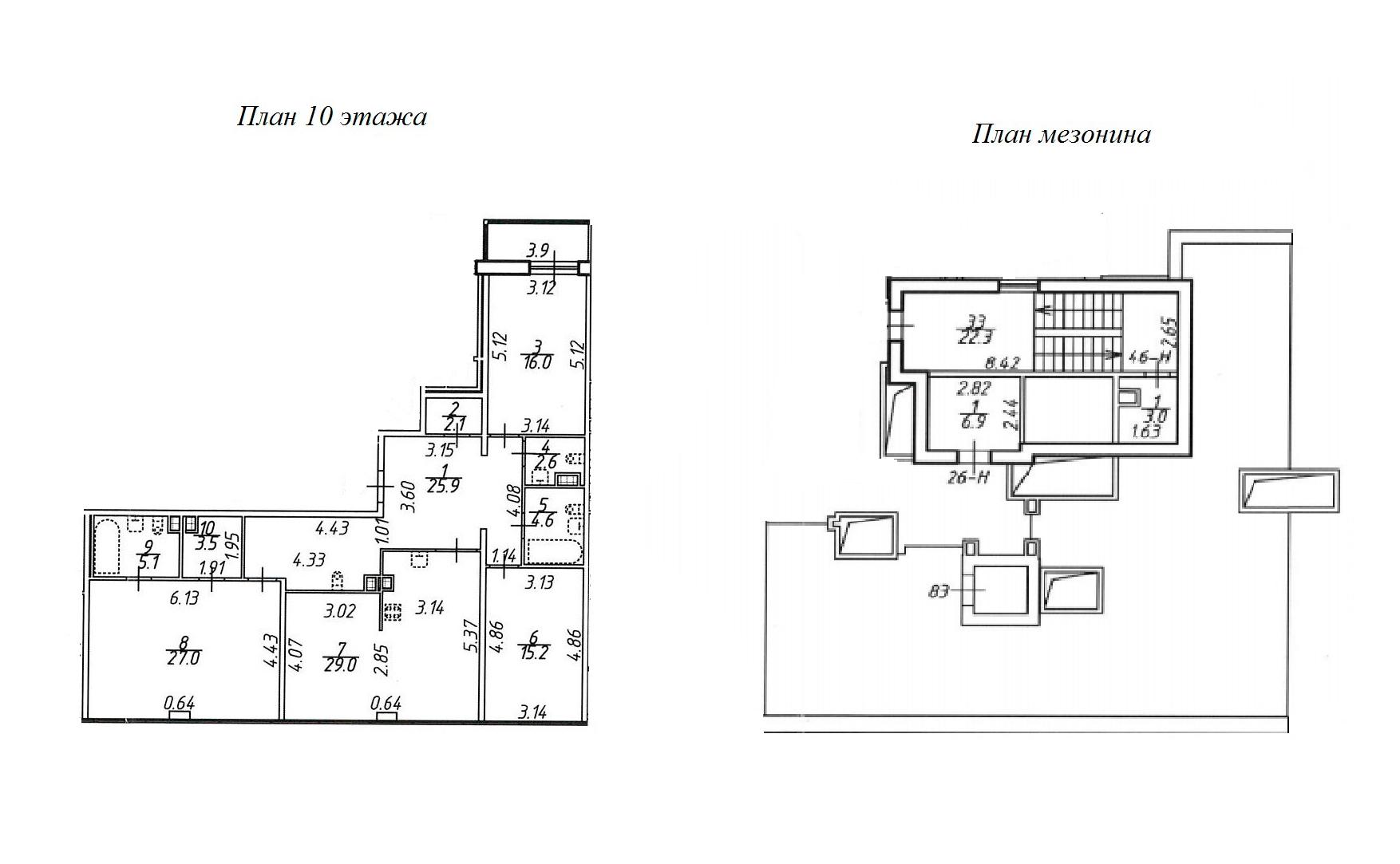 4Е-комнатная квартира, 168.04 м², 10 этаж – Планировка