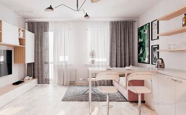 2Е-комнатная, 34.4 м²– 6