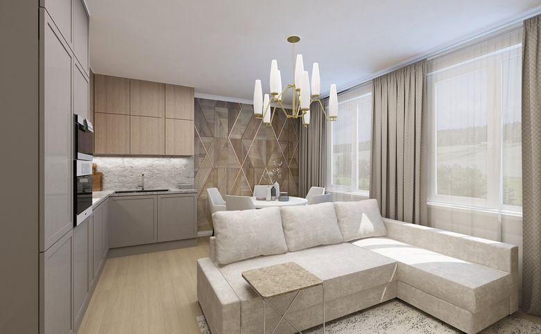 3Е-комнатная квартира, 55.62 м², 2 этаж – 3