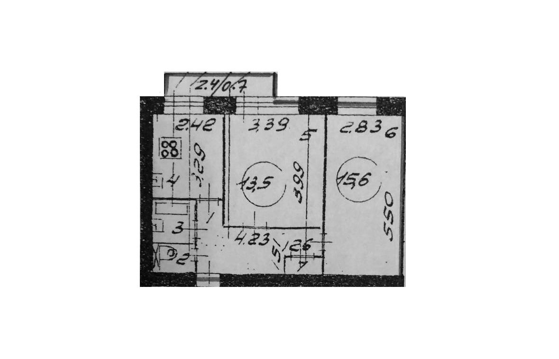 2-к.кв, 47 м²