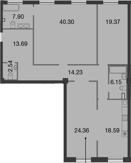 4Е-к.кв, 147.13 м²