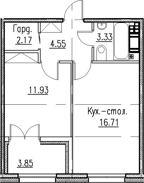 2Е-к.кв, 38.69 м²