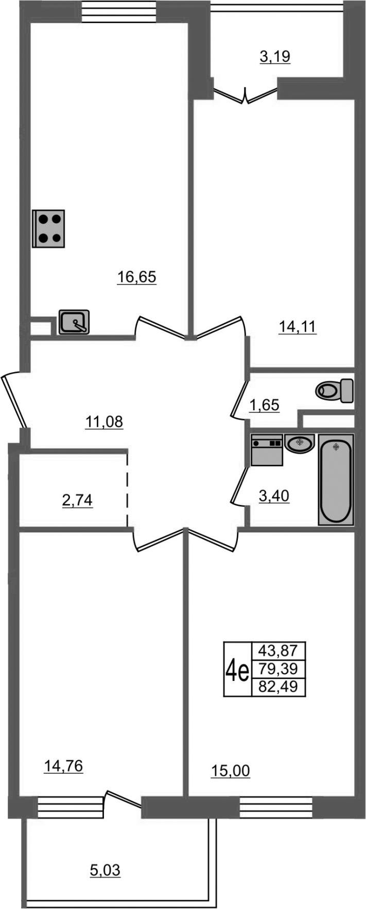 4-к.кв (евро), 87.6 м²