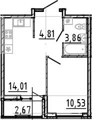 2Е-к.кв, 33.21 м²