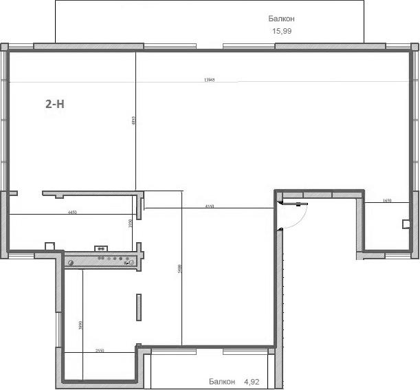 Свободная планировка, 121 м²– 2