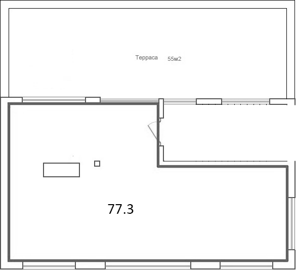 Свободная планировка, 77.3 м²– 2
