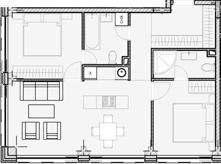 Своб. план., 61.98 м², 8 этаж