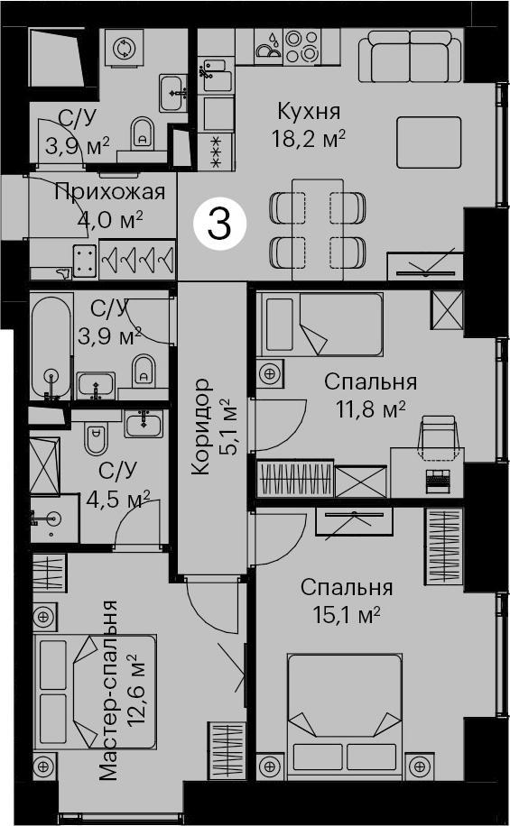 4-к.кв (евро), 79.1 м²