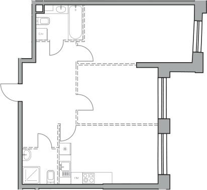 Своб. план., 65.82 м²