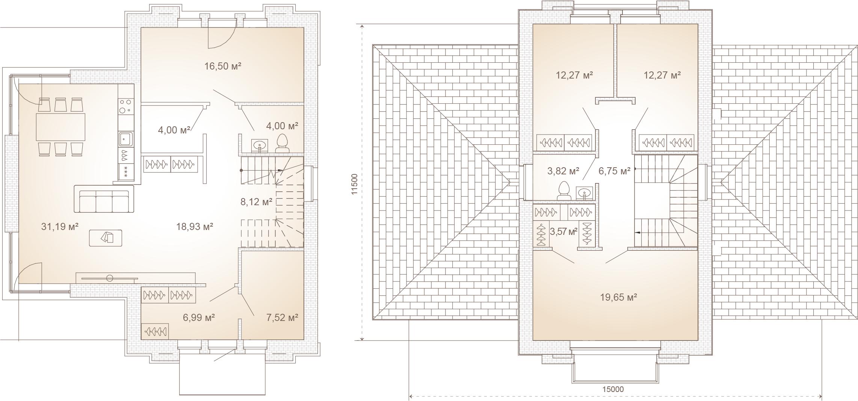 Коттедж, 155 м²