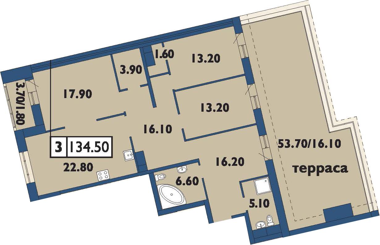 4-к.кв (евро), 173.87 м²