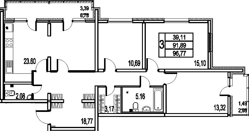 4-к.кв (евро), 101.65 м²