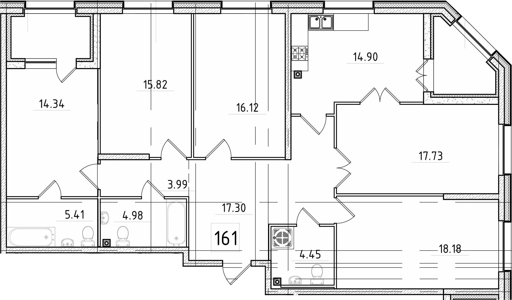5-к.кв, 141.8 м²