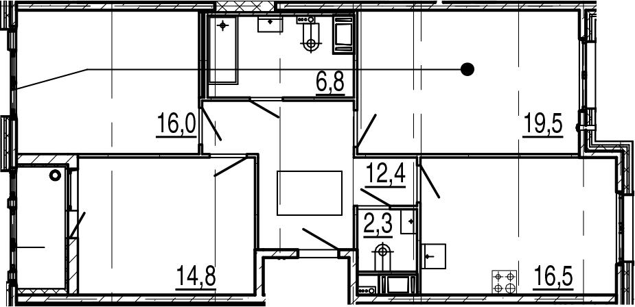 4Е-комнатная, 90.1 м²– 2
